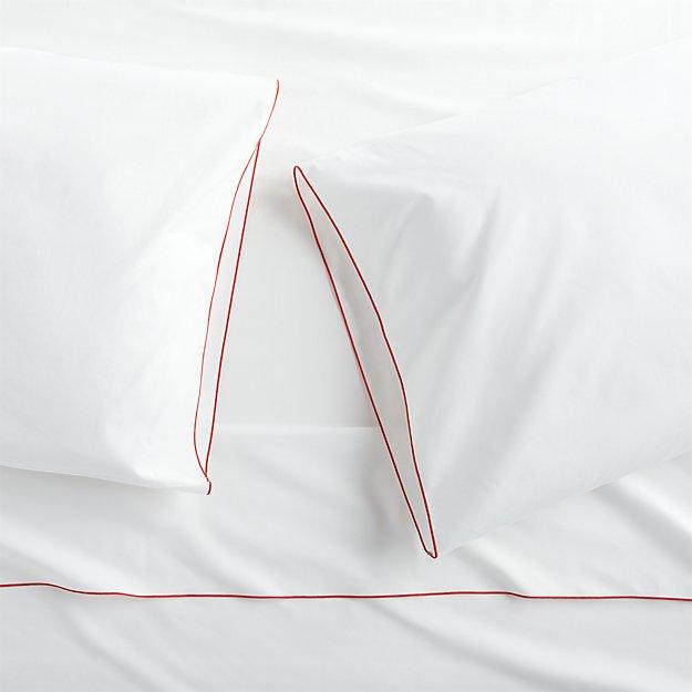 Belo Red Sheet Set