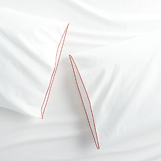 Set of two Belo Red Standard Pillow Cases