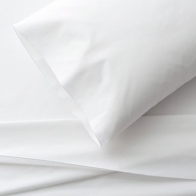 Belo White Twin Sheet Set