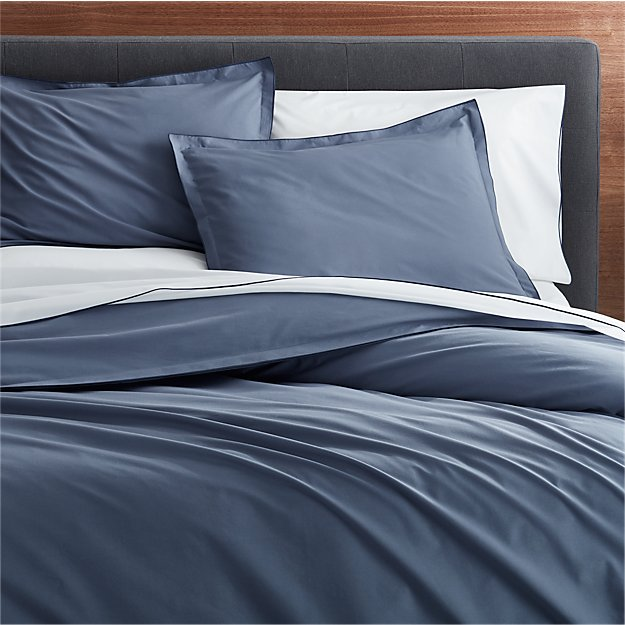 Belo Vintage Blue Twin Duvet Cover Crate And Barrel