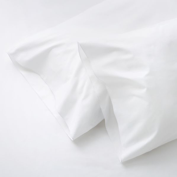 Set of Two Belo White Standard Pillow Cases