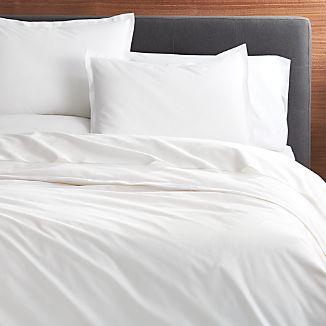 Belo White Duvet Covers and Pillow Shams