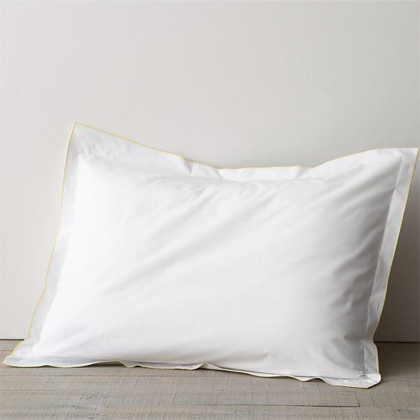 Belo Yellow Standard Flange Pillow Sham
