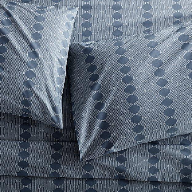 Bennett Blue Queen Sheet Set