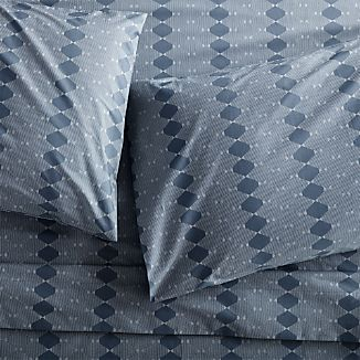 Bennett Blue Sheets and Pillow Cases