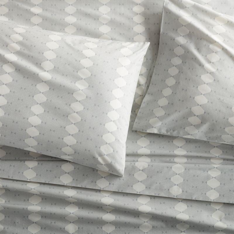 Set of 2 Bennett Grey King Pillow Case