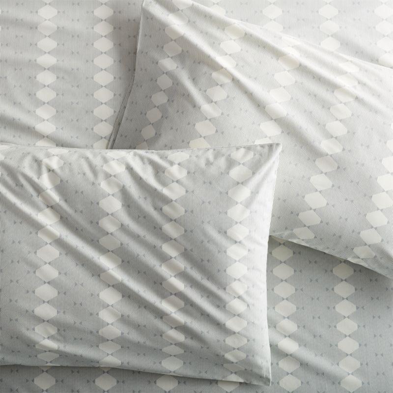 Set of 2 Bennett Grey Standard Pillow Case
