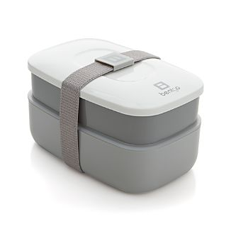 Two-Tone Grey Bento Box