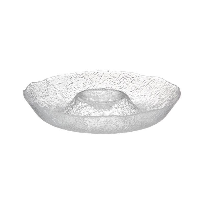 Organic shape and texture reminiscent of ice sculpture makes this Italian-crafted piece a cool serving alternative. Bergen Dinnerware also available.<br /><br /><NEWTAG/><ul><li>Glass</li><li>Dishwasher-safe</li><li>Made in Italy</li></ul>