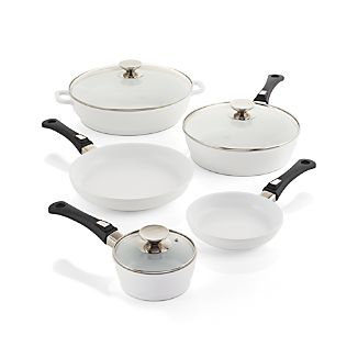 Berndes Vario Click White 8-Piece Cookware Set