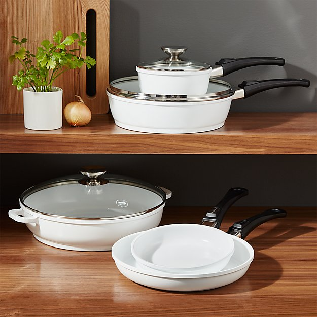 Berndes White 8 Piece Ceramic Cookware Set Crate And Barrel