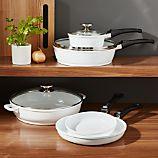 Berndes Vario Click White 8-Piece Cookware Set