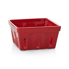 Berry Box Red Colander