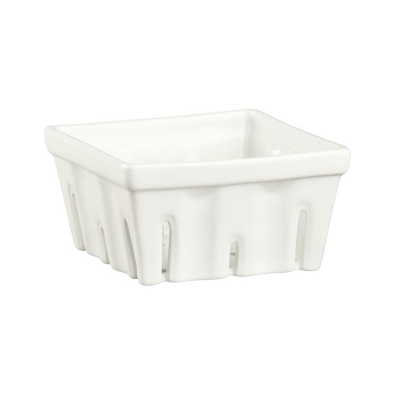 Berry Box White Colander