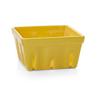 Berry Box Yellow Colander