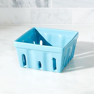 Berry Box Blue Colander