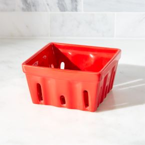 Berry Box Red Colander