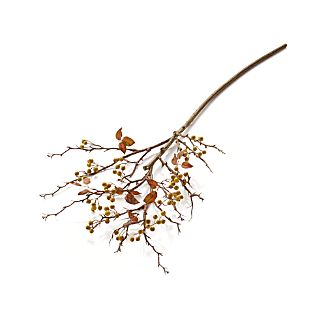 Yellow Berry Stem Artificial Branch