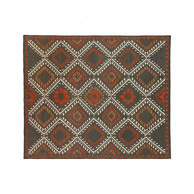 Bessie Wool Kilim 8 X10 Rug Crate And Barrel