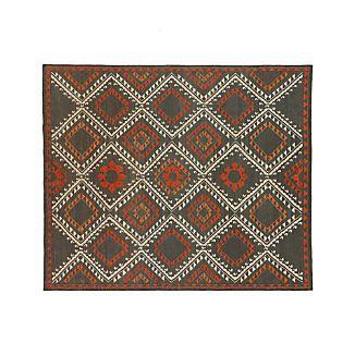 Bessie Charcoal Wool Dhurrie 8'x10' Rug