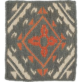 "Bessie Wool Dhurrie 12"" sq. Rug Swatch"