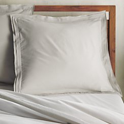 Bianca White/Grey Euro Pillow Sham