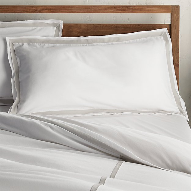 Bianca White/Grey King Pillow Sham