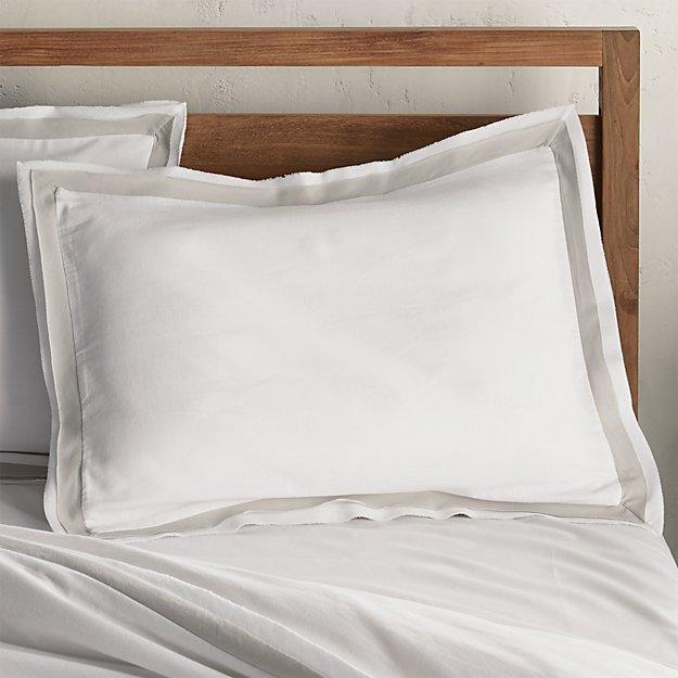 Bianca White/Grey Standard Pillow Sham