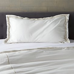 Bianca White/Natural King Sham