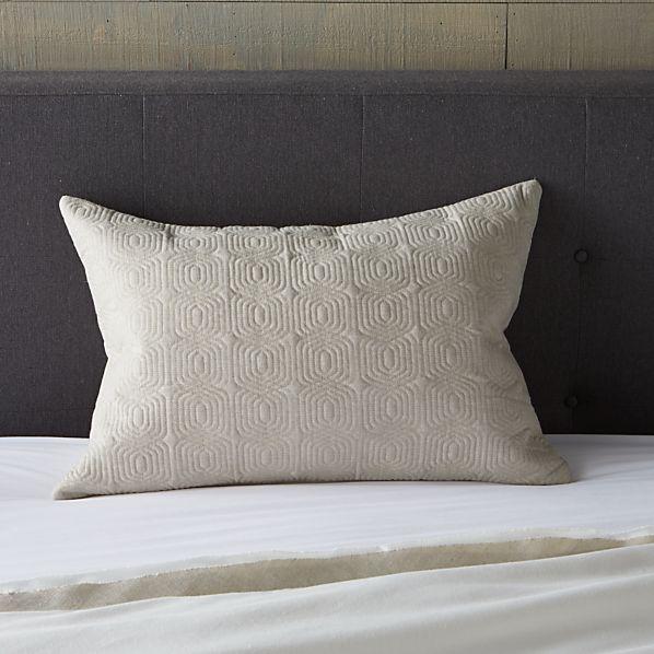 """Bianca Natural 24""""x16"""" Lumbar Pillow - Cover Only"""
