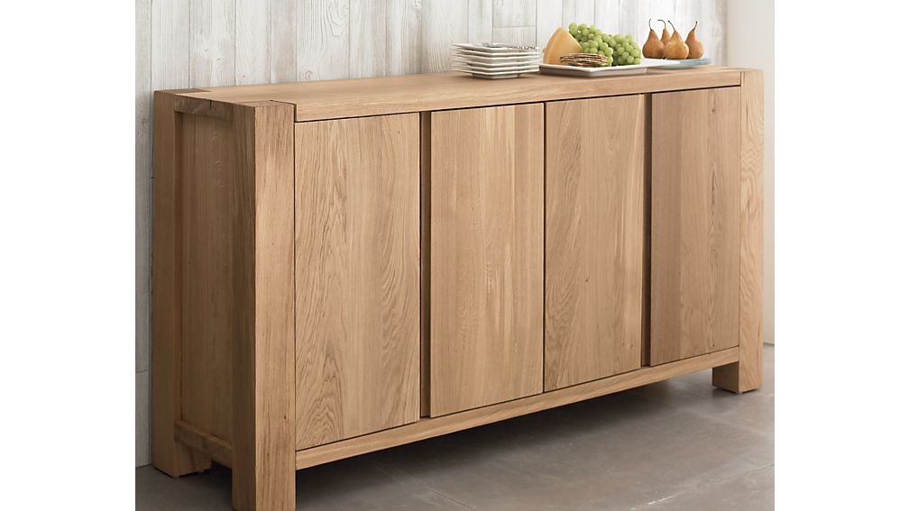 Big Sur Natural Sideboard in Buffets u0026 Sideboards : Crate and Barrel