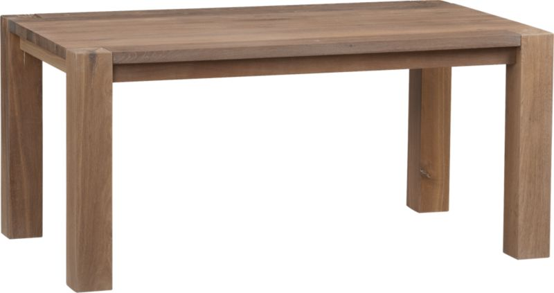 Like its namesake, this casual, contemporary dining group is big, bold and natural. The rustic beauty of Big Sur lies in its solid European white oak with naturally occurring splits, cracks and knots (see additional photos). Its intricate, narrow grain is produced by a colder climate, making each piece unique. Supporting the table are four hefty legs, each crafted of a single piece of heartwood, exposing the tree's inner rings.<br /><br /><NEWTAG/><ul><li>Fumed solid white oak with smoke and tinted wax finish</li><li>Wood pegging detail on top</li><li>Each leg crafted of heartwood and kiln-dried for stability</li><li>Seats up to six</li><li>Polished wax finish allows wood to gain character as it ages</li><li>Made in Poland</li></ul>