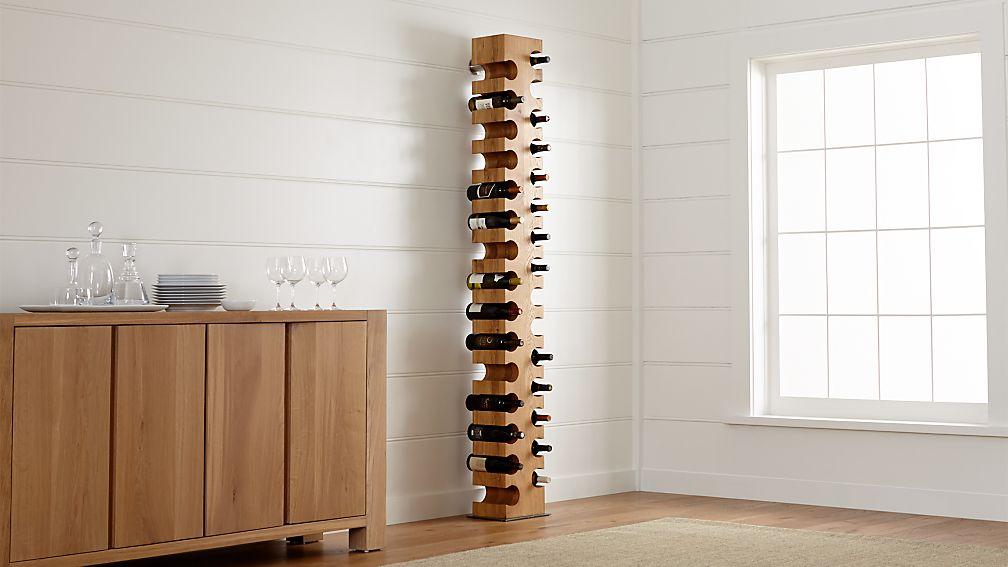 Big Sur Natural 30-Bottle Standing Wine Rack