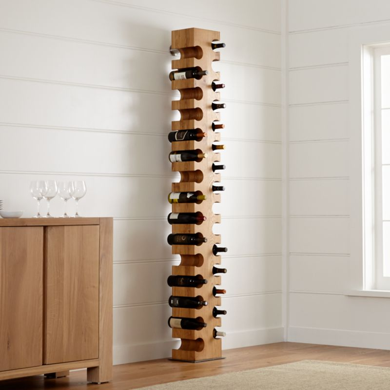 Big Sur Natural 30-Bottle Standing Wine Rack