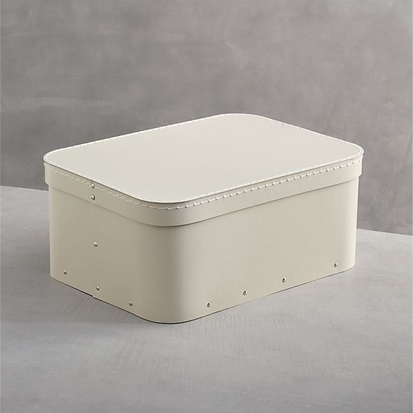 Bigso ® Ivory Small Rectangular Storage Box