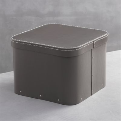 Bigso® Grey Large Square Storage Box