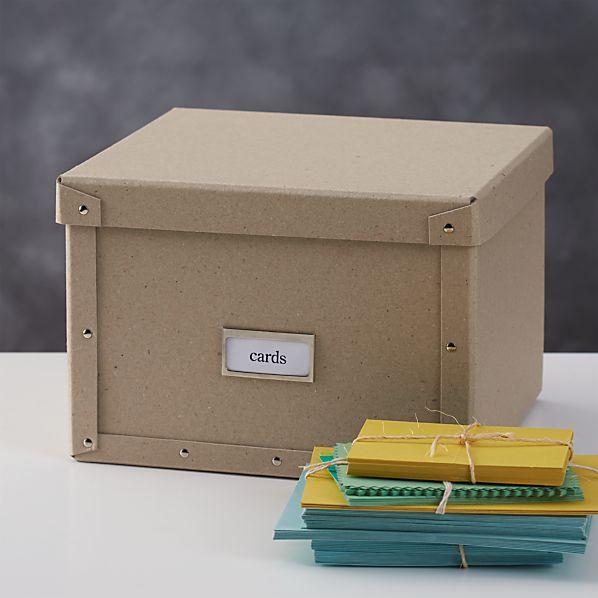 Bigso ® Natural Card Storage Box