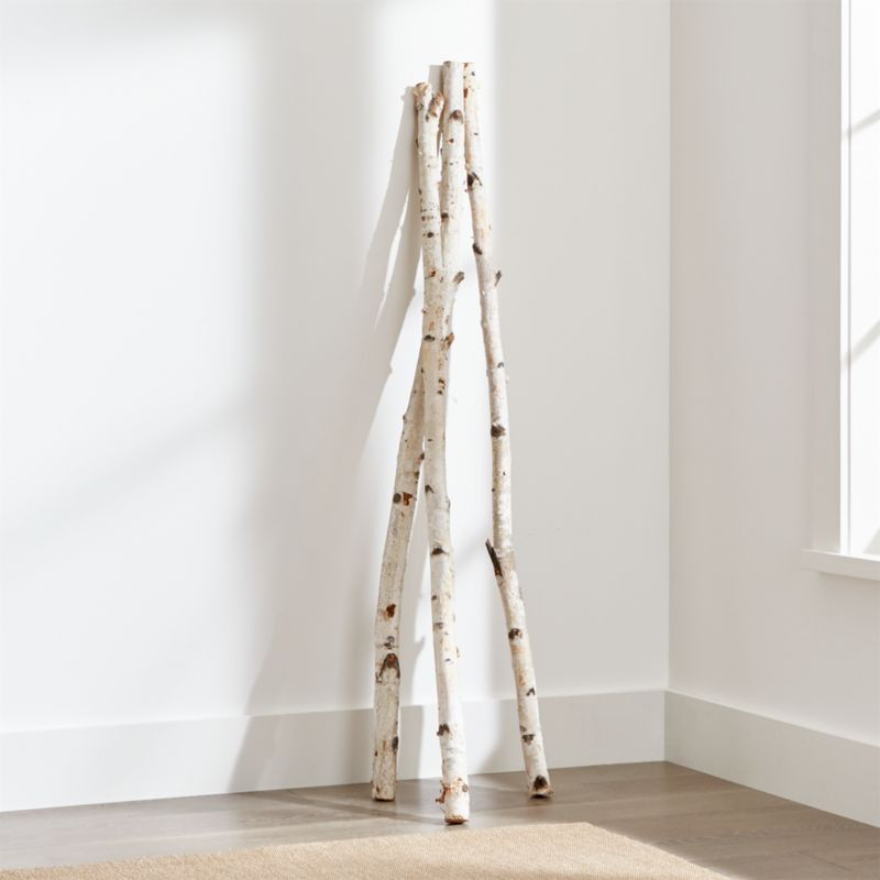 Set Of 3 Tall Birch Branches Crate And Barrel