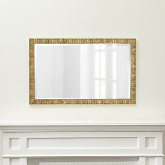 Champagne Gold Birch Rectangular Wall Mirror