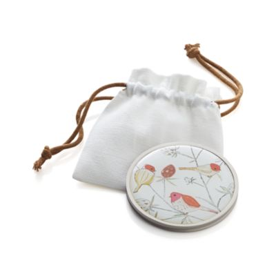 Bird Purse Mirror with Pouch