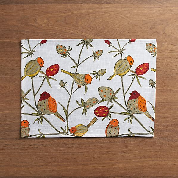 Birds and Berries Placemat