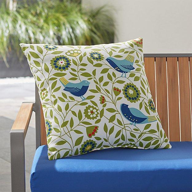 Birds 20 Quot Sq Outdoor Pillow Crate And Barrel