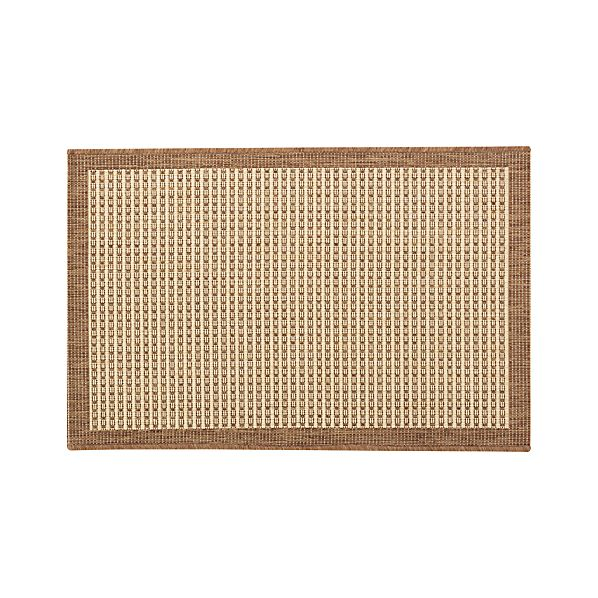 Biscayne Pecan 2'x3' Indoor-Outdoor Rug