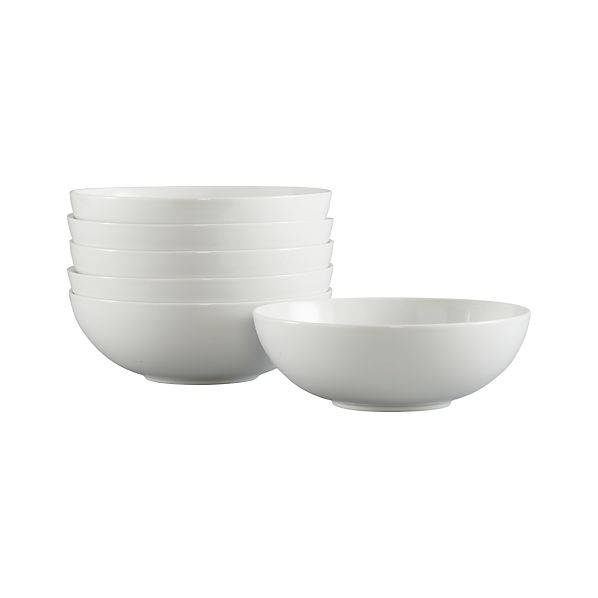 "Set of 6 Bistro 8"" Large Bowls"