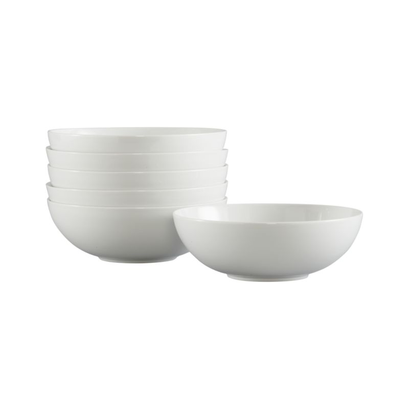 These durable, restaurant-quality porcelain bowls with a clean coupe shape are perfect for serving and stacking at the buffet.<br /><br /><NEWTAG/><ul><li>High-fired porcelain</li><li>Dishwasher-, microwave-, warm oven- and freezer-safe</li><li>Made in Sri Lanka</li></ul>