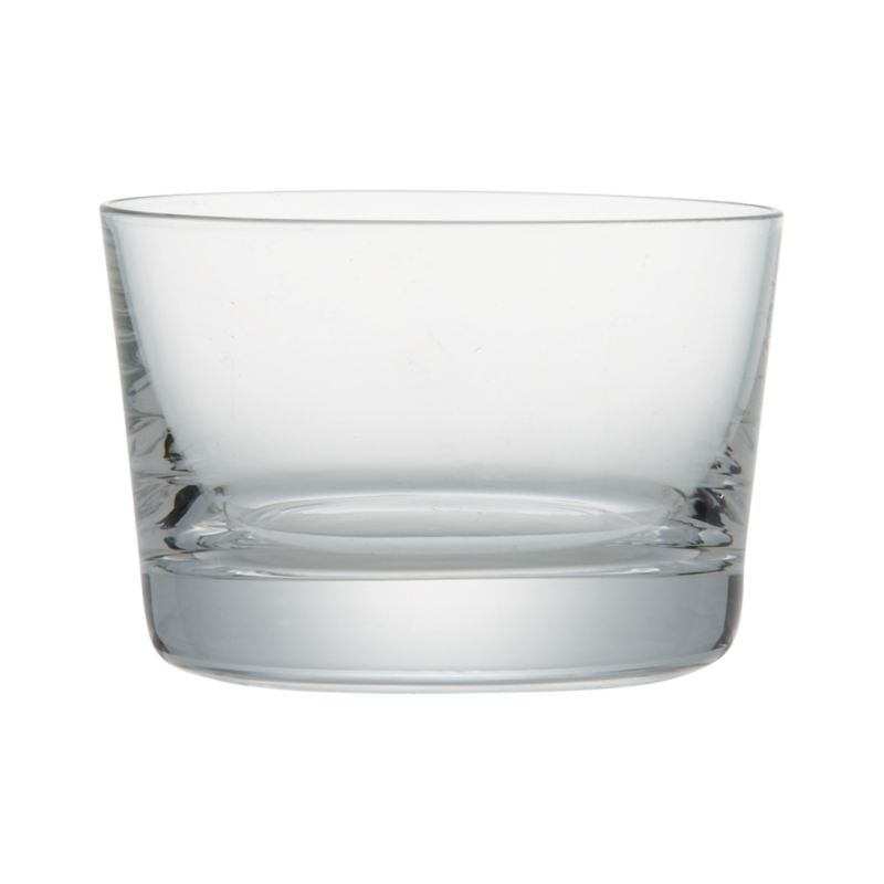 Tiny tipple with broad, low profile is perfect for liquers, two-bite desserts, appetizers and more.<br /><br /><NEWTAG/><ul><li>Clear glass</li><li>Cut and fire-polished rim</li><li>Dishwasher-safe</li><li>Made in Slovakia</li></ul>
