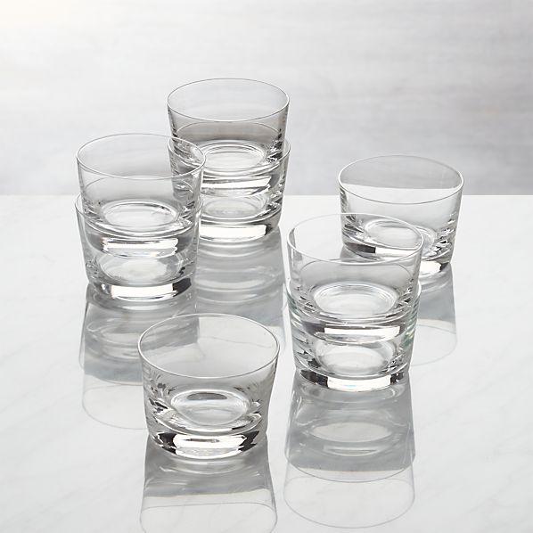 Set of 8 Bitty Bite Short Glasses