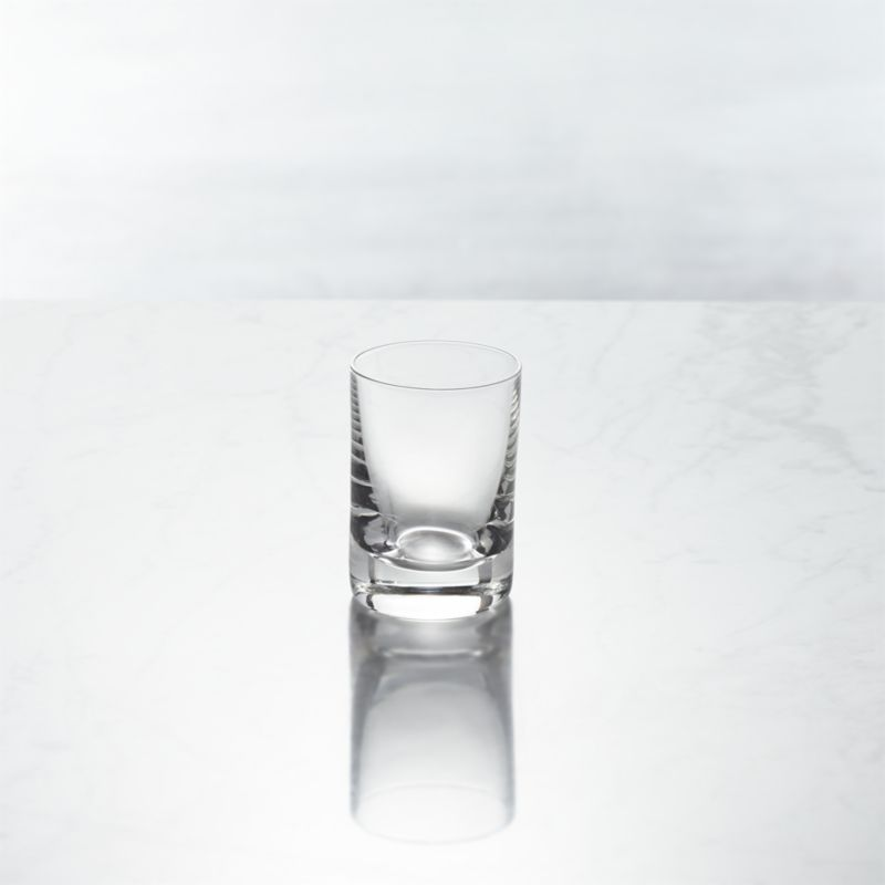 Tiny tipple with classic shot glass shape is perfect for liquers, two-bite desserts, appetizers and more.<br /><br /><NEWTAG/><ul><li>Clear glass</li><li>Cut and fire-polished rim</li><li>Dishwasher-safe</li><li>Made in Slovakia</li></ul>