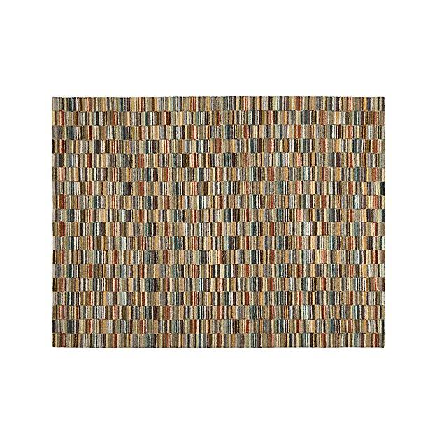 Bix Striped Wool 9'x12' Rug