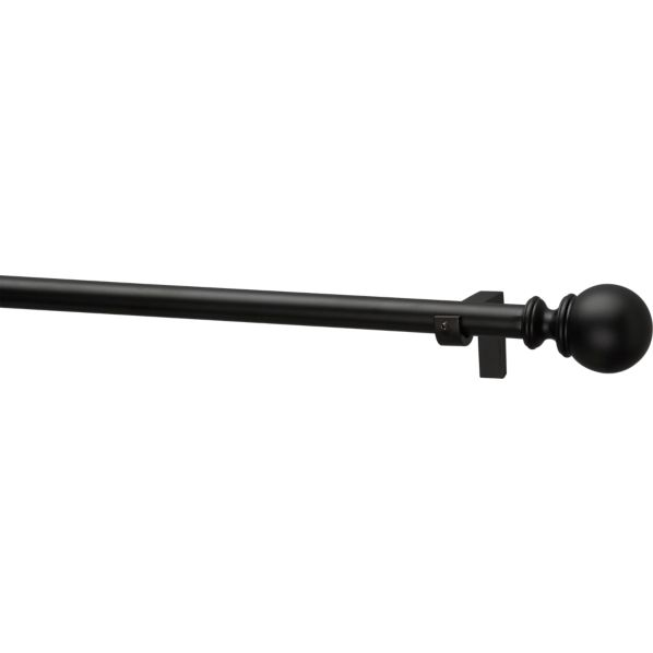 "Black Orb .75""x120""–170"" Curtain Rod Set"